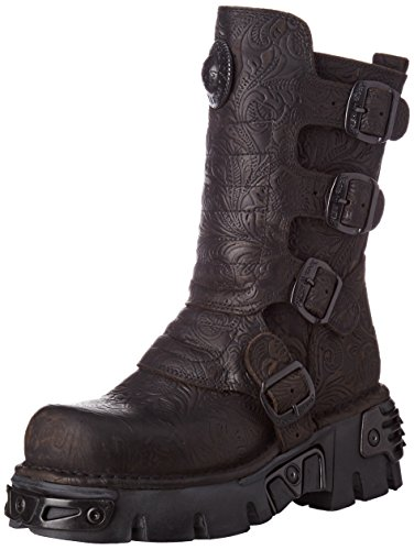 Motorcycle Rock New S25 Boot Black Men's 373X M qXdwnAtrd