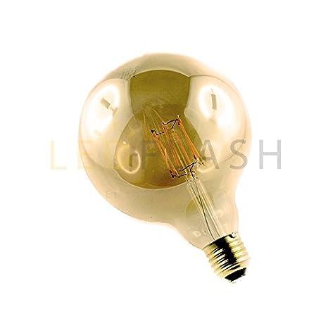 Bombilla led COB, casquillo E27, 8, w filamento G125 eq. (70 w) de luz, color blanco cálido-2700 K: Amazon.es: Iluminación