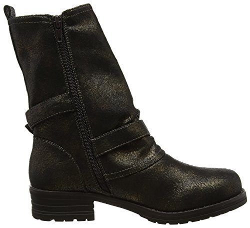 Sassy Bronze Donna Boots Black Biker Browns Joe Stivali Crackled A Arricciati Nero 6vwqAg