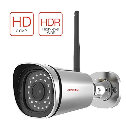 Foscam HD 1080P Outdoor WiFi Security Camera – Weatherproof IP66 Bullet / 2.1MP IP Wireless Surveillance Camera System with iOS/Android App, Night Vision up to 65ft, and More (FI9900P)