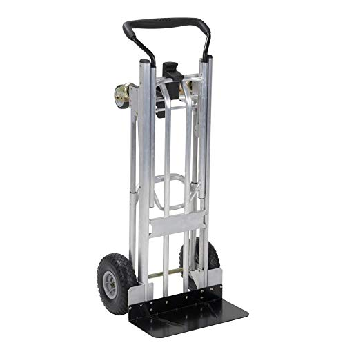 - 800-lb Silver Aluminum Convertible Hand Truck by Cosco