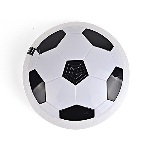 Potato001 Kids Air Power Soccer Football Indoor Outdoor Disk Hover Ball Game with Foam Bumpers and Light Up LED Lights (Random Color)