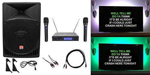 "Rockville 15"" Pro Karaoke Machine/System w/LED's 4 ipad/"