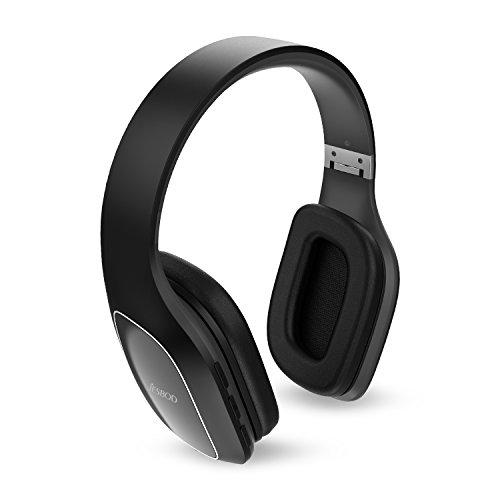 JESBOD QCY30 Faltbarer Kopfhörer Bluetooth V4.1 Sport Ohrhörer On-Ear Stereo Headset Noise Cancelling mit Mikrofon für iPhone 6s Plus 6 5s Samsung Galaxy S7 S6 Anmerkung 5 - Freisprechen & IPX5 Sweatproof- Schwarz