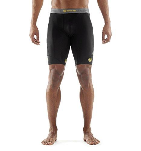 Skins Men's DNAmic Men's Compression Half Tights/Shorts, Black, - Skins Men