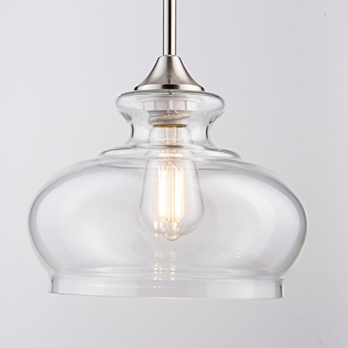 Oval Glass Pendant Light