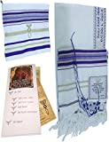 HolyLandMarket Mens Purple with Gold Messianic Shawl/Tallit - The Messiah Tallit Small