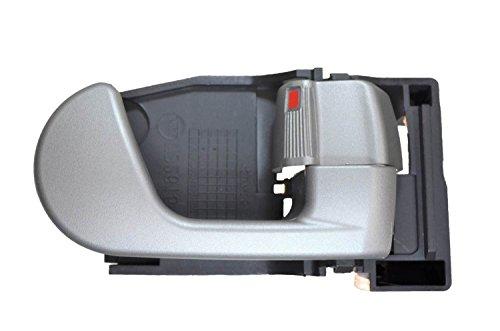 PT Auto Warehouse MI-2615G-RH – Interior Inner Inside Door Handle, Gray – Passenger Side