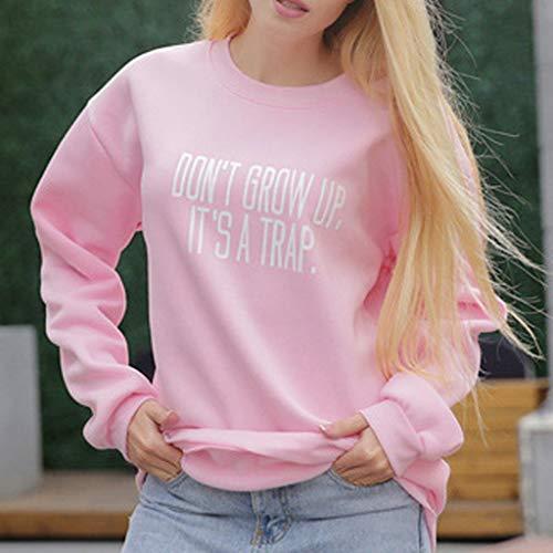 Larga Camisa Needra Abrigo chaqueta 2019 Largos La Moda Camisas Abrigos Manga Invierno En Estilo Último Top Confort Pink Suéter Sudadera Mujer De Blusa Sección Ocio Chándales 80r8wqd