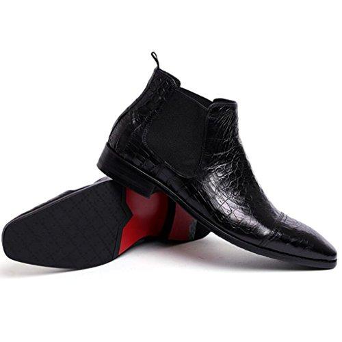 Occasionnels Hommes Pour Cuir Gaolixia Cowboy Classique Manches Chaussures Crocodile Noir Air Bottes Grain De Pointu Plein Brun vcvqBrRyF
