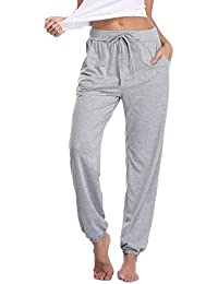Pajama Pants for Womens Cotton Stretch Knit Lounge Pants...