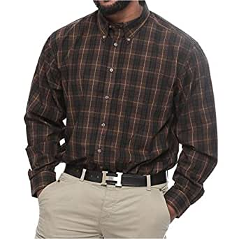 Harbor Bay Big and Tall Plaid Long Sleeve Wrinkle Resistant Shirt for Men - Multi Color