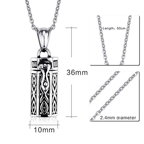 Stainless Steel Cremation Urn Keepsake Memorial Jewelry Necklace for Family Pet