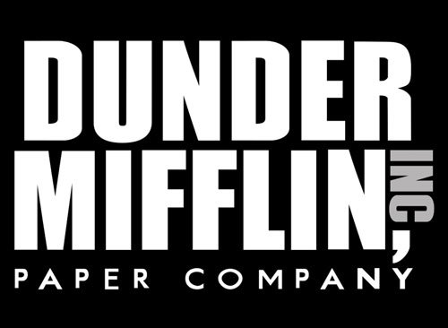 American Vinyl Black Dunder Mifflin Paper Company Logo Sticker (The Office Funny tv Show)