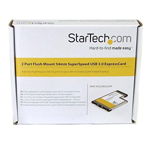 StarTech.com 2 Port Flush Mount ExpressCard 54mm SuperSpeed USB 3.0 Card Adapter