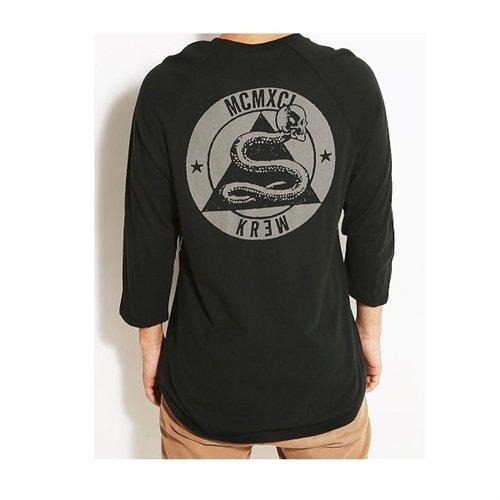 KR3W Men's Snakeskull Sweatshirt - Black