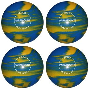 EPCO Candlepin Bowling ball- Marbleized – Marigold &ロイヤル – 4 Balls B0763GN88D  4 1/2 inch- 2lbs. 6oz.