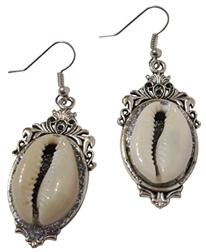 Cowrie Shell Earrings, Drop Dangle Jewelry Wear With Your Cowry Pendant, Choker, Necklace And Bracelet