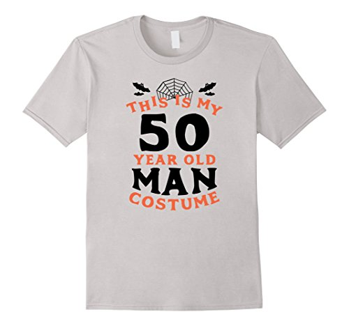 Mens 50 Year Old Man Costume - Funny Men's Halloween T-Shirt XL Silver