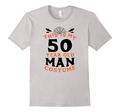 Mens 50 Year Old Man Costume - Funny Men's Halloween T-Shirt XL (Halloween Costumes For 50 Year Old)