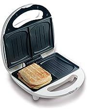Domo DO9041C tosti-broodrooster bakt 2 sandwiches tegelijkertijd in schelpvorm, bakampel voor optimale en gelijkmatige bakresultaten, geen plakken dankzij antiaanbaklaag, 700 watt