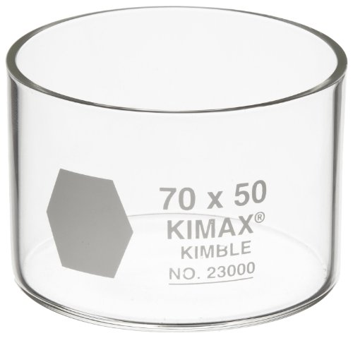 Kimble 23000-7050 Glass Crystallizing Dish, 70mm Diameter x 50mm Height (Pack of 6) by Kimble