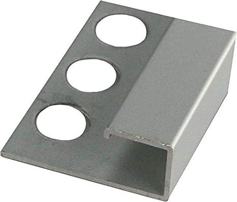 Muster Fliesenschiene Quadratprofil 12,5mm x 10cm Alu elox Silber matt