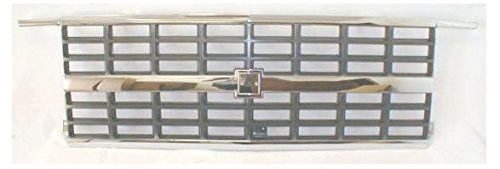 Grille Grill Chrome and Argent for 89-91 Blazer Suburban R/V w/Dual Headlights ()