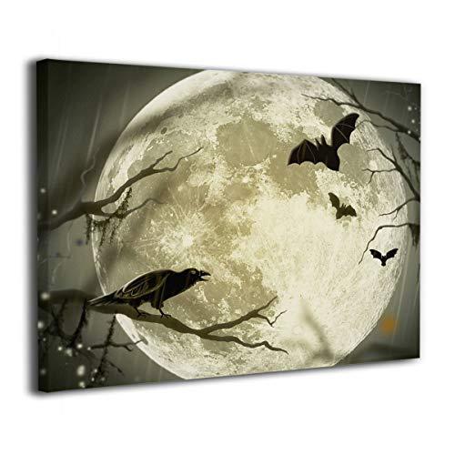 Janeither Canvas Wall Art Halloween Moon Illustration Art Artistic 16