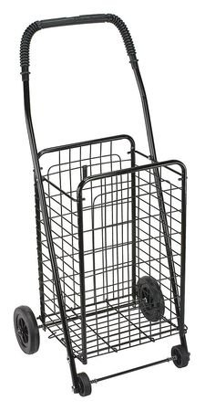 Folding Shopping Cart, Black, Four Wheeled