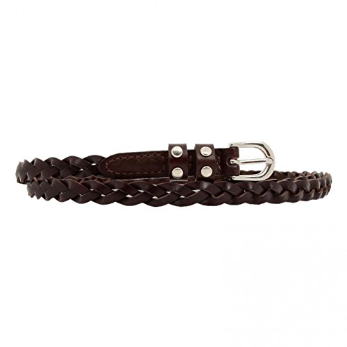 Womens Skinny Braided Waist Belt Woven Thin Belt for Jeans (Braided Jean Belt)