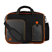 Orange Pindar Edition Messenger Bag Protective Netbook Carrying Case for Asus Eee PC 1011PX 10.1-inch Netbook PC