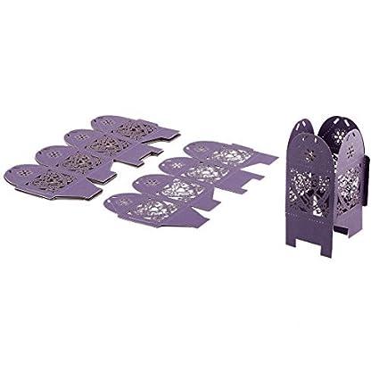 eDealMax Caja del Favor de la boda de Papel del Corte del Laser cintas decoración del