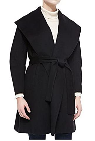Angel&Lily Long kimono sleeves Belted Wrap Wool blend Coat JY011 Plus 3x - Blend Wrap Coat