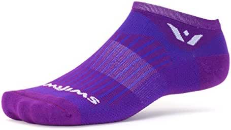 Swiftwick - Aspire ZERO, No-Show Compression Socks for Endurance Sports