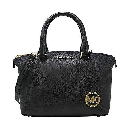 Riley Satchel - Michael Kors Riley Small Satchel Bag Leather Black (35S8GRLS1L)