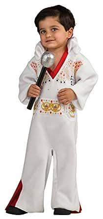 Elvis Baby Bunting Costume, White/Red, Newborn