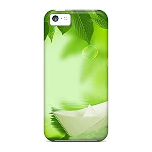 Hot Snap-on Paper Boat Hard Cover Case/ Protective Case For Iphone 5c