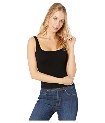 Free People Women's Square One Seamless Cami, Black, XS/S