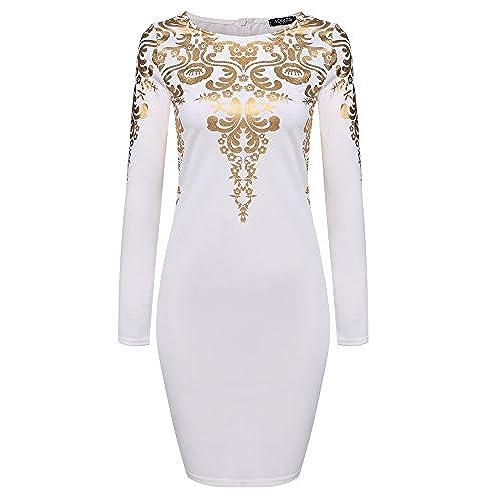 Gold and white dress amazon