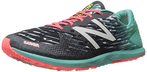 New Balance Women's 900v3 Track Spike Running Shoe, Black/Blue, 7 B US