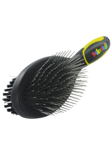 Kakadu Pet Two-sided Brush Grooming Tool, Dog or Cat Pin and Bristle Brush, Large, My Pet Supplies