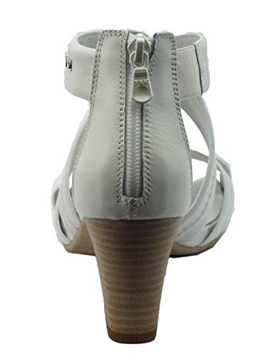 Nero Giardini P717590d Tigri Bianco - Sandalias de Vestir de Piel Para Mujer Bianco