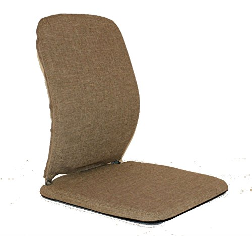 QBC McCarty's Sacro Ease Model BRSCMCF-Lightbrown Memory Foam Lumbar Seat Support for Bad Backs in The car, Bus, Taxi, Boat, Airplane - Plus QBC Ergonomic Seating eBook