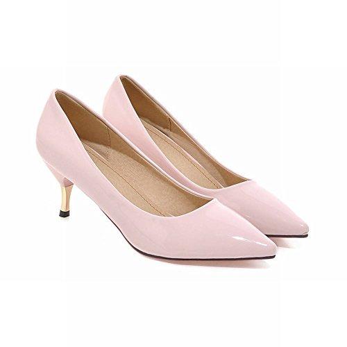 à MissSaSa Bout Office Enfiler Fermeture Femmes Escarpins Rose Chaussures Pointu XPS6fq