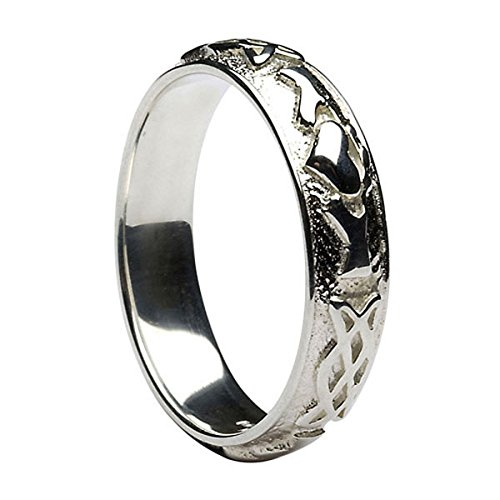 Men's Claddagh Celtic Knot Sterling Silver Wedding Band