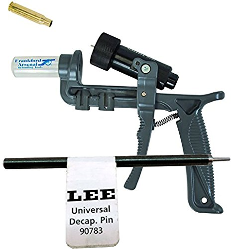 - Bundle Includes Frankford Arsenal Platinum Series Hand Deprimer and Lee Precision Pin/90783 Universal Decapping