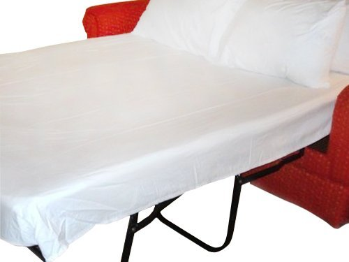 "Queen Sleeper Sofa Bed Sheet Set White 200 Thread Count (60""x74""x6"")"