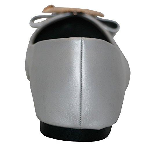 AalarDom Mujer Sin cordones Material Suave Sólido De salón Gris
