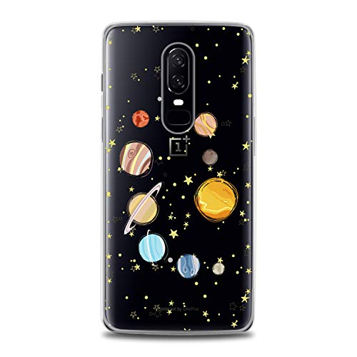 Lex Altern TPU Case for OnePlus 7 Pro 6T 6 2019 5T 5 2017 One+ 3 1+ Parade of Planets Gift Earth Flexible Design Print Soft Solar System Cover Smooth Universe Slim fit Stars Clear Lightweight Sun